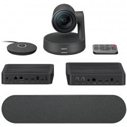 Webcam logitech rally plus 4k microfono
