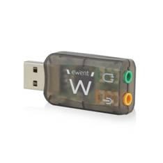 Adaptador audio ewent sonido virtual 3d