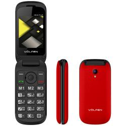 Telefono movil volfen flip rojo tipo