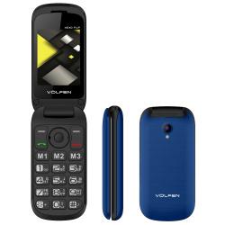 Telefono movil volfen flip azul tipo