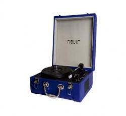 Tocadiscos portatil bluetooth nevir nvr - 804vbue azul
