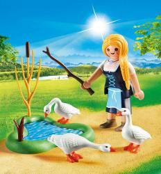 Playmobil special plus doncella con gansos