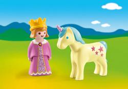 Playmobil 1.2.3 princesa con unicornio
