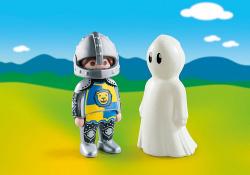 Playmobil 1.2.3 caballero con fantasma