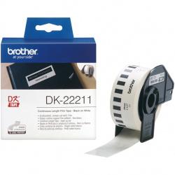 Etiquetas cinta continua brother blanca dk22211
