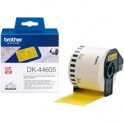 Etiquetas cinta continua brother amarilla dk44605