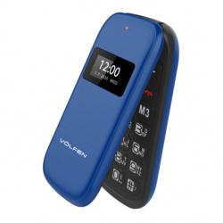 Telefono volfen flip azul dual doble