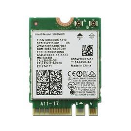 Tarjeta wifi intel 3168 1x1ac bt
