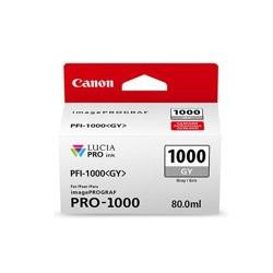Cartucho tinta canon pfi - 1000gy gris pro - 1000