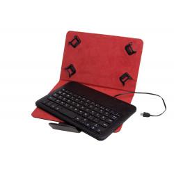 Funda universal + teclado con cable